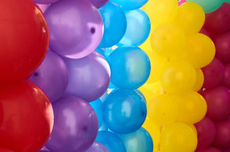 Multicolored balloons as decoration