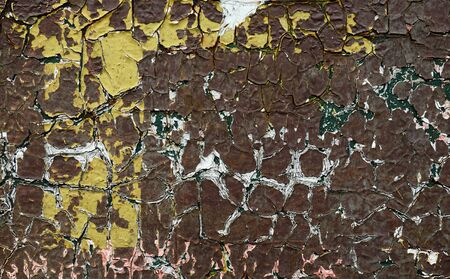The old cracked brown paint abstract background Archivio Fotografico