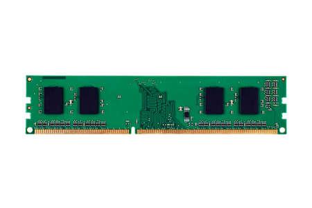 DDR RAM module on white background Archivio Fotografico