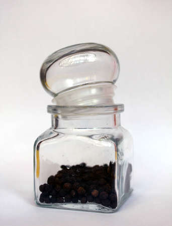 seasoning of black pepper in a glass Stock Photo