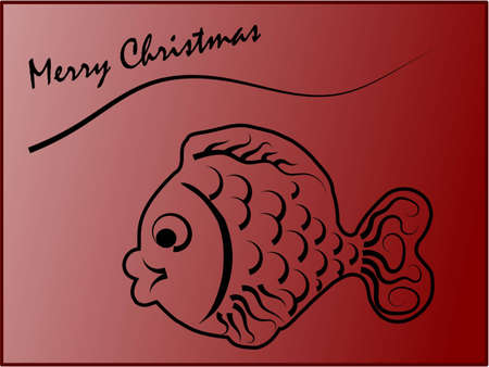 Christmas cards with text and Carp