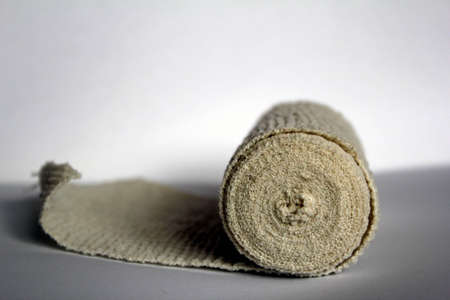 elastic bandage on white background