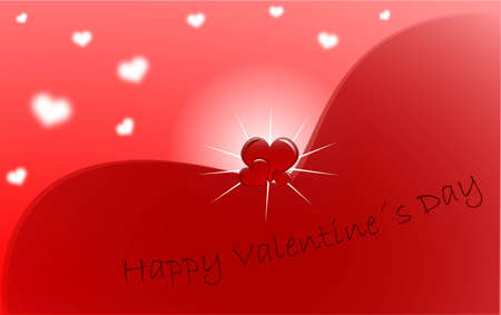Red Valentines Day greeting card Illustration