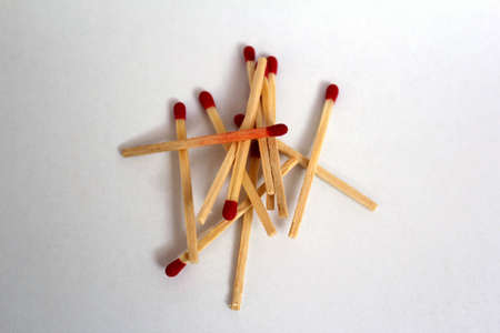 spilled matchsticks