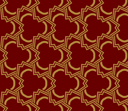 Decorative seamless geometric pattern. Vector illustration. Stok Fotoğraf - 125183986