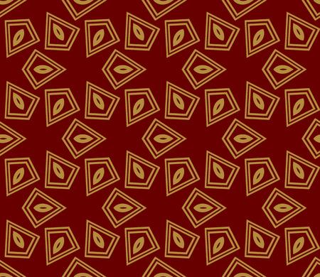 Decorative seamless geometric pattern. Vector illustration. Stok Fotoğraf - 125183995