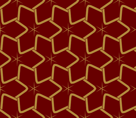 Decorative seamless geometric pattern. Vector illustration. Stok Fotoğraf - 125183998
