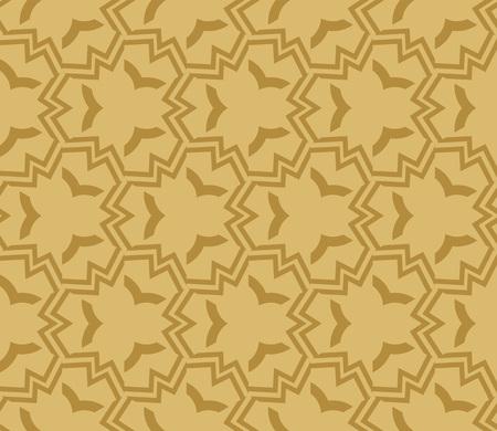 Decorative seamless geometric pattern. Vector illustration. Stok Fotoğraf - 125184008