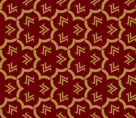 Decorative seamless geometric pattern. Vector illustration. Stok Fotoğraf - 125184019