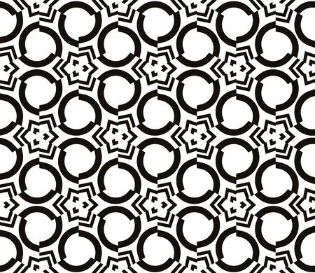 Decorative seamless geometric pattern. Vector illustration. Stok Fotoğraf - 125184020