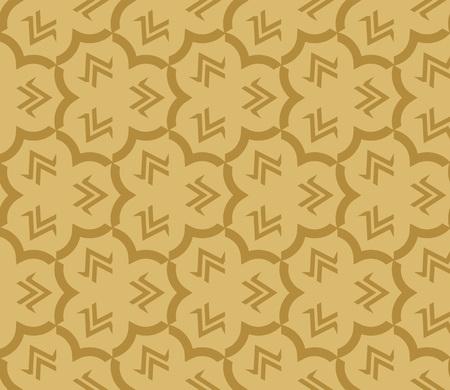 Decorative seamless geometric pattern. Vector illustration. Stok Fotoğraf - 125184023