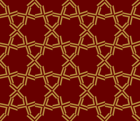 Decorative seamless geometric pattern. Vector illustration. Stok Fotoğraf - 125184030