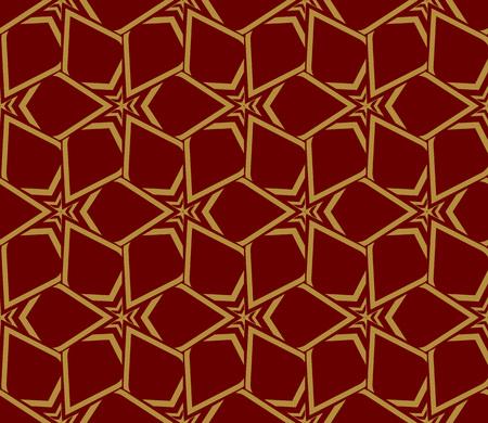 Decorative seamless geometric pattern. Vector illustration. Stok Fotoğraf - 125184059