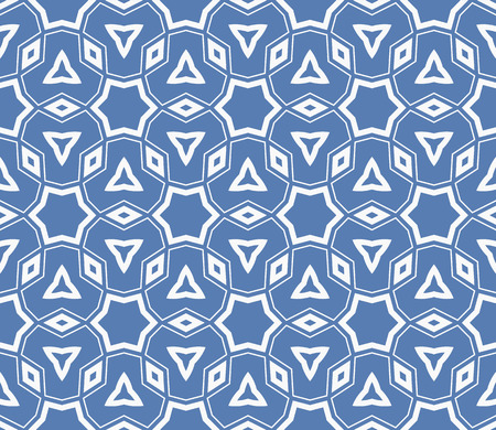 Simple modern seamless geometric pattern. For digital paper, textile print, page fill. Vector illustration Stok Fotoğraf - 125184068