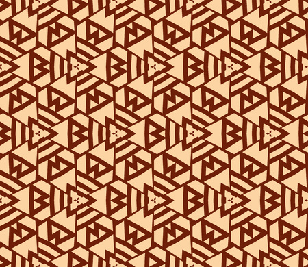 Seamless modern vector illustration with geometric ornament. Ilustrace