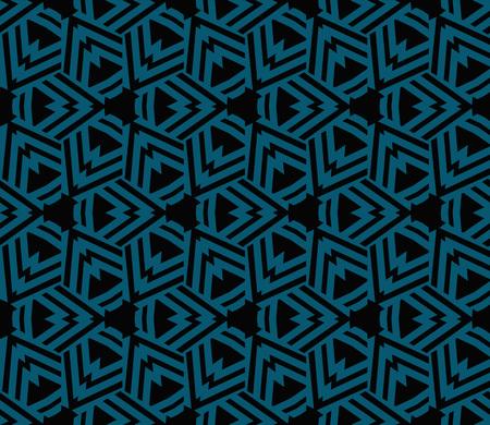 Seamless modern vector illustration with geometric ornament. Illustration