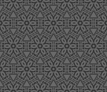 Traditionelles geometrisches nahtloses Muster für Tapeten, Textil. Vektor-Illustration