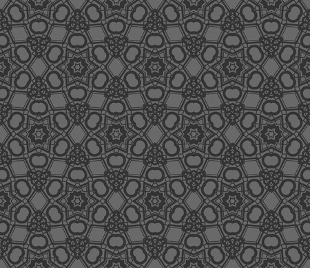Abstract background with geometric seamless ornament. Vector illustration. Imagens - 124974254