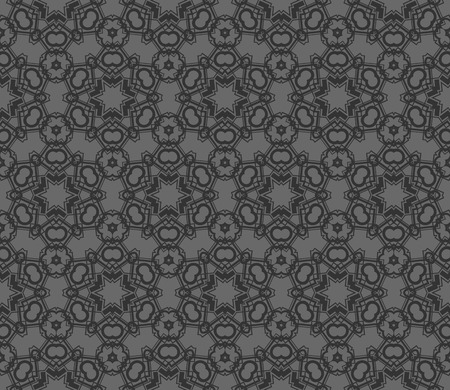 Abstract background with geometric seamless ornament. Vector illustration. Imagens - 124974263