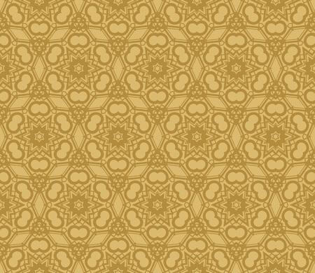 Modern seamless geometric ornament. luxury background. Vector illustration Imagens - 124974285