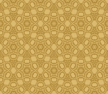 Modern seamless geometric ornament. luxury background. Vector illustration Imagens - 124974289