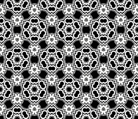 Modern seamless geometric ornament. luxury background. Vector illustration Ilustração