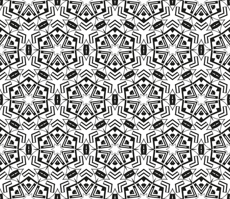 Abstract repeat backdrop. Design for decor, prints, textile, furniture, cloth, digital. Vector monochrome seamless pattern Illustration