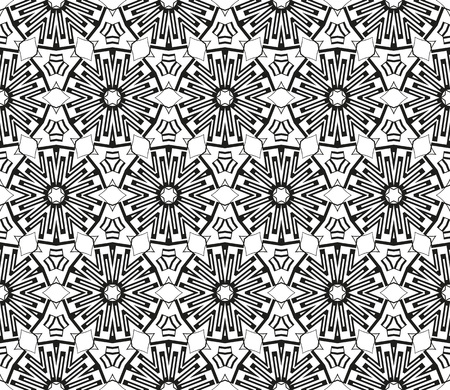 Abstract repeat backdrop. Design for prints, textile, decor, fabric. Vector monochrome seamless pattern