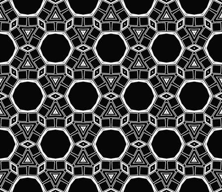Ornamental seamless pattern. Vector abstract background. Archivio Fotografico - 124906904