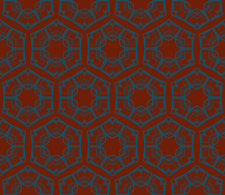 Ornamental seamless pattern. Vector abstract background. Archivio Fotografico - 124906922