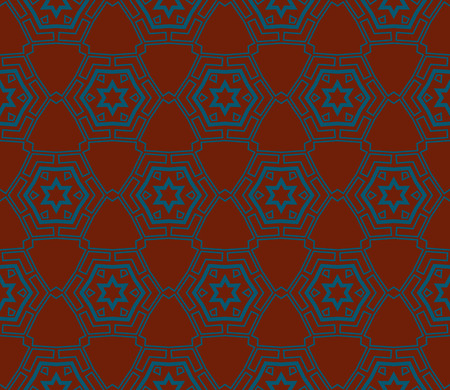 Ornamental seamless pattern. Vector abstract background. Archivio Fotografico - 124906932