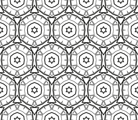 Ornamental seamless pattern. Vector abstract background. Archivio Fotografico - 124906937