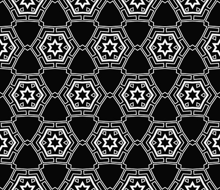 Ornamental seamless pattern. Vector abstract background. Archivio Fotografico - 124906964