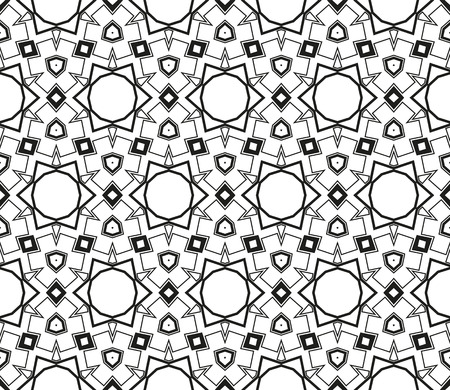 Ornamental seamless pattern. Vector abstract background. Archivio Fotografico - 124906974