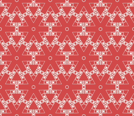 Red tones.For the interior design, printing, textile industry. Geometric pattern as seamless vector illustration.