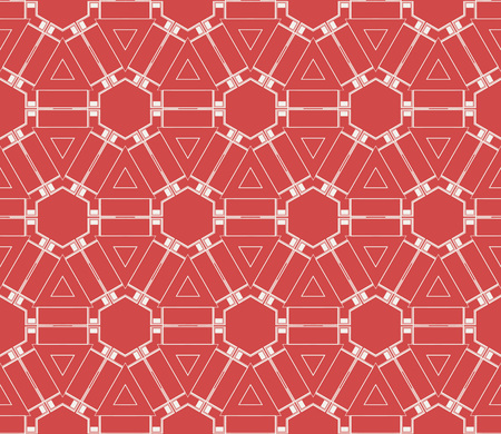 Red tones.For the interior design, printing, textile industry. Geometric pattern as seamless vector illustration. 向量圖像