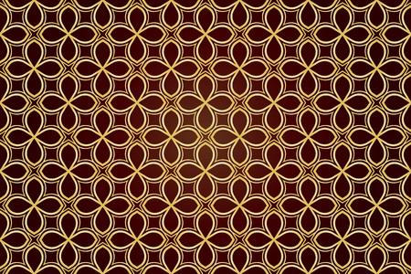 Vektor-Luxus. Geometrischer Hintergrundtrend. Vektornahtloses Muster für Innenarchitektur