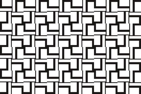 Fondo astratto di lusso di vettore. Modello senza cuciture geometrico in bianco e nero in stile moderno