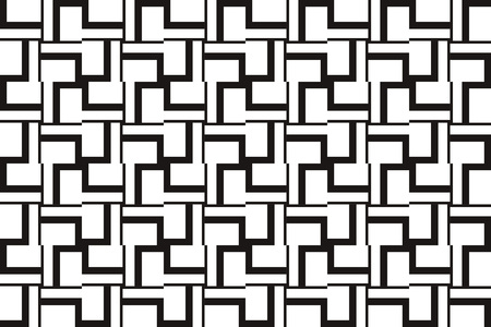Vector luxury abstract background. Black and white geometric seamless pattern in modern stylish