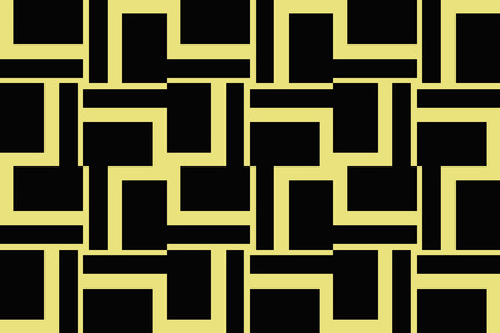 abstract seamless geometric pattern. Yellow color. for wallpapers, web page background, surface textures, Image for advertising booklets, banners. Vector illustration