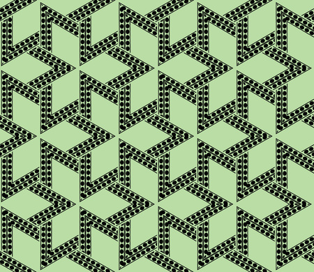 Green color. abstract seamless geometric pattern. for wallpapers, web page background, surface textures, Image for advertising booklets, banners. Vector illustration  イラスト・ベクター素材
