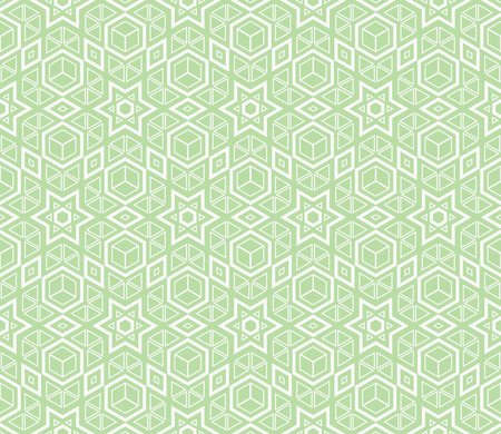 Green color. abstract seamless geometric pattern. for wallpapers, web page background, surface textures, Image for advertising booklets, banners. Vector illustration Ilustrace