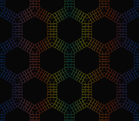Trendy gradient geometric backdrop with hologram.Vector seamless pattern Illustration