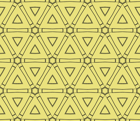 Yellow and black color geometric pattern. Seamless illustration