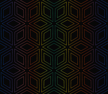 Hologram abstract background.Vector seamless pattern