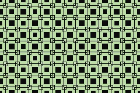 Green color. abstract seamless geometric pattern. for wallpapers, web page background, surface textures, Image for advertising booklets, banners. Vector illustration Çizim