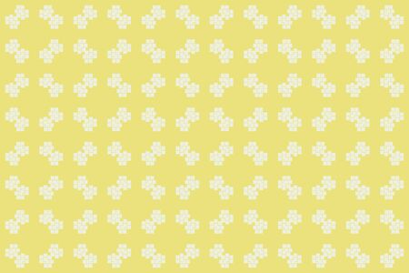 Yellow color. abstract seamless geometric pattern. for wallpapers, web page background, surface textures, Image for advertising booklets, banners. Vector illustration Çizim