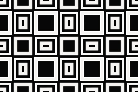 Vector luxury abstract background. Black and white geometric seamless pattern. Reklamní fotografie - 134027828