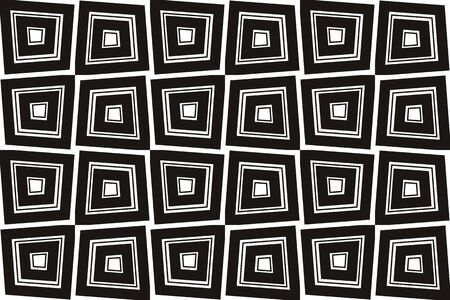 Vector luxury abstract background. Black and white geometric seamless pattern. Reklamní fotografie - 134028018