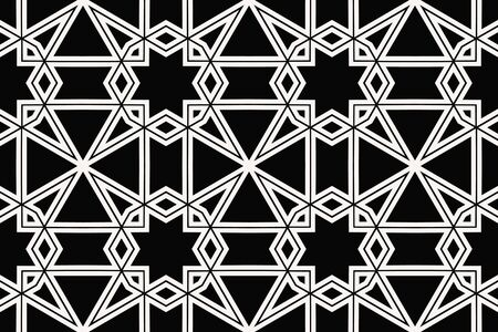 Vector luxury abstract background. Black and white geometric seamless pattern. Reklamní fotografie - 134028220